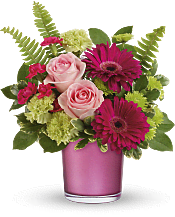 Regal Pink Ruby Bouquet Flowers