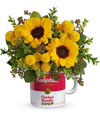 Campbell's Warm Wishes Bouquet by Teleflora Flowers