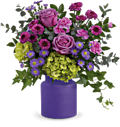 Teleflora's Amethyst Awe Bouquet Flowers