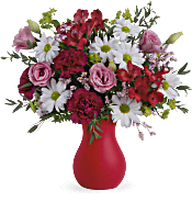 Teleflora's Kissed With Crimson Bouquet Flowers