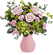 Teleflora's Breezy Pink Bouquet Flowers