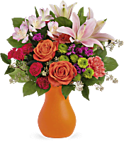 Teleflora's Happy Go Citrus Bouquet Flowers