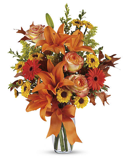Burst Of Autumn Flowers Burst Of Autumn Flower Bouquet
