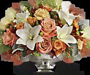Teleflora's Harvest Shimmer Centrepiece Flowers
