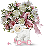 Teleflora's Sweet Little Lamb - Baby Pink Flowers