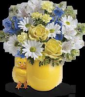 Sweet Peep Bouquet - Baby Blue Flowers