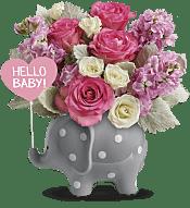 Hello Sweet Baby - Pink Flowers