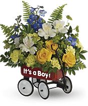 Sweet Little Wagon Bouquet Flowers