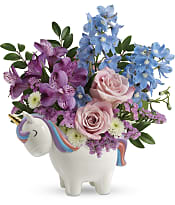 Enchanting Pastels Unicorn Bouquet Flowers