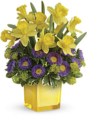 Playful Springtime Daffodil Bouquet Flowers