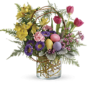 Pop Of Springtime Bouquet Flowers