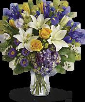 Floral Spring Iris Bouquet Flowers