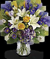 Teleflora's Floral Spring Iris Bouquet Flowers