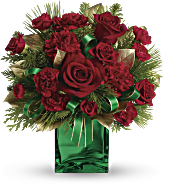 Teleflora's Yuletide Spirit Bouquet Flowers