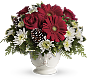 Teleflora's Simply Merry Centerpiece Flowers