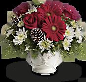 Teleflora's Simply Merry Centrepiece Flowers