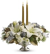 Silver And Gold Centrepiece Flowers