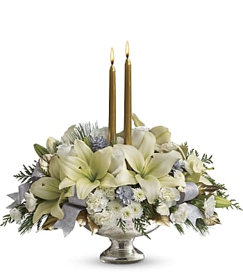 Silver And Gold Centerpiece Flowers