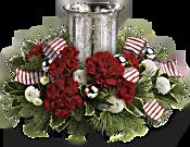 Teleflora's Holly Jolly Centerpiece Flowers