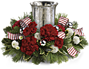 Teleflora's Holly Jolly Centrepiece Flowers