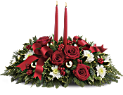 Holiday Shimmer Centerpiece Flowers
