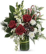 Festive Pines Bouquet Flowers