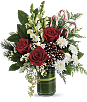 Teleflora's Festive Pines Bouquet Flowers