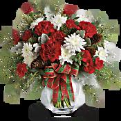 Teleflora's Holiday Shine Bouquet Flowers