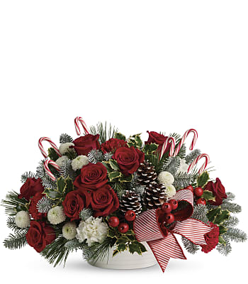 Jolly Candy Cane Bouquet Flowers