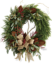 Rustic Holiday Wreath Flowers