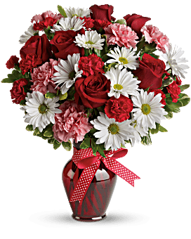 Hugs And Kisses Bouquet With Red Roses Teleflora