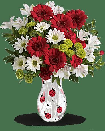 Teleflora S Lovely Ladybug Bouquet