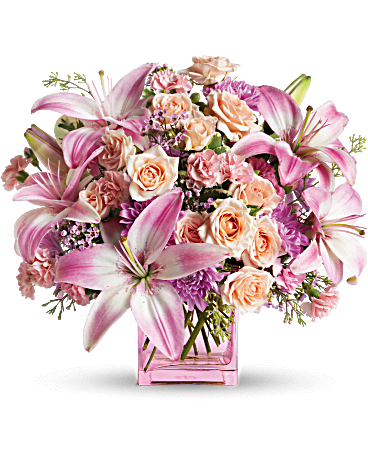 teleflora's possibly pink flower arrangement  teleflora, Beautiful flower