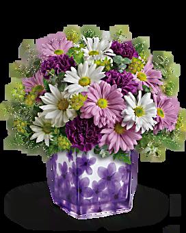Teleflora's Dancing Violets Bouquet Bouquet