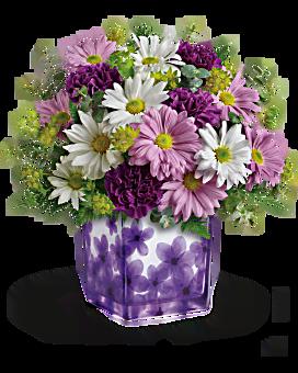 Bouquet Violettes dansantes de Téléflora