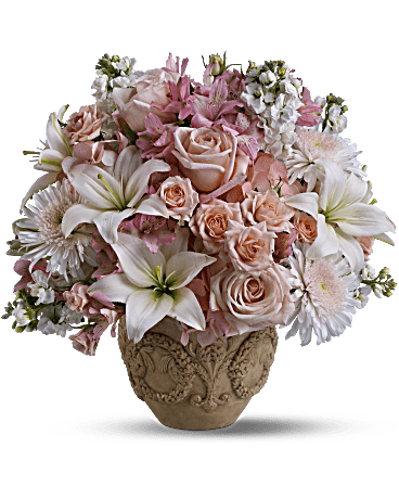 teleflora's rose remembrance flower arrangement - teleflora