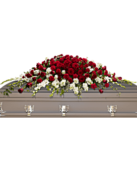 Garden of Grandeur Casket Spray Sympathy Arrangement Teleflora