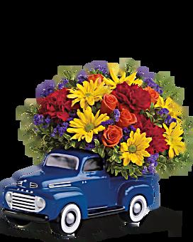 Teleflora's '48 Ford Pickup Bouquet Flower Arrangement