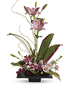 Imagination Blooms with Cymbidium Orchids Flower Arrangement