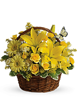 Basket Full of Wishes Basket Arrangement