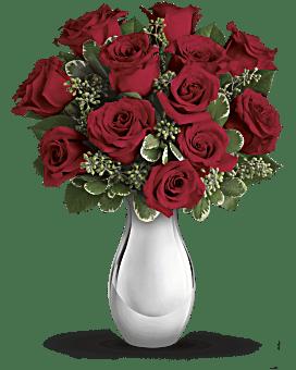 Bouquet Véritable romance avec roses rouges de Teleflora