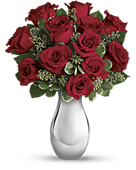 Teleflora's True Romance Bouquet with Red Roses Bouquet