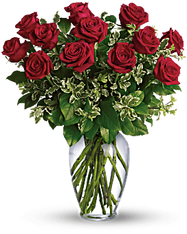 Always on My Mind - Long Stemmed Red Roses Bouquet
