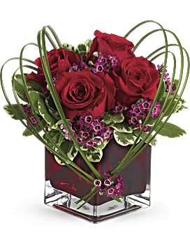 Teleflora's Sweet Thoughts Bouquet with Red Roses Bouquet