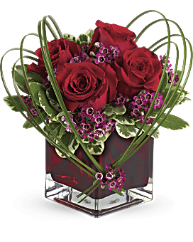 teleflora 39 s sweet thoughts bouquet with red roses teleflora. Black Bedroom Furniture Sets. Home Design Ideas