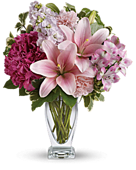 Teleflora's Blush Of Love Bouquet Bouquet