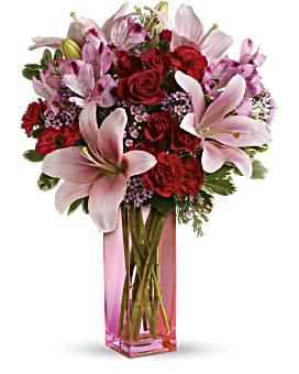 Teleflora's Wondrous Life Bouquet - by Teleflora's Flower Club Celebrate a wondrous life with this timeless tribute of pure white lilies and roses, arranged in a graceful tulip-shaped ceramic vase. This monochromatic bouquet features crème roses, white asiatic lilies, seeded eucalyptus, and lemon leaf.