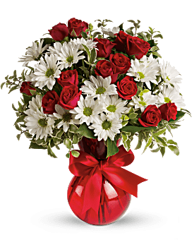 Red, White And You Bouquet by Teleflora Bouquet