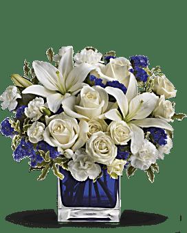Teleflora's Sapphire Skies Bouquet Bouquet