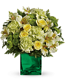 Teleflora's Emerald Elegance Bouquet Flower Arrangement